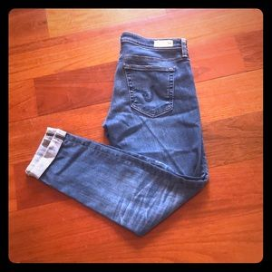 AG The Stilt Roll Up Cropped Jeans